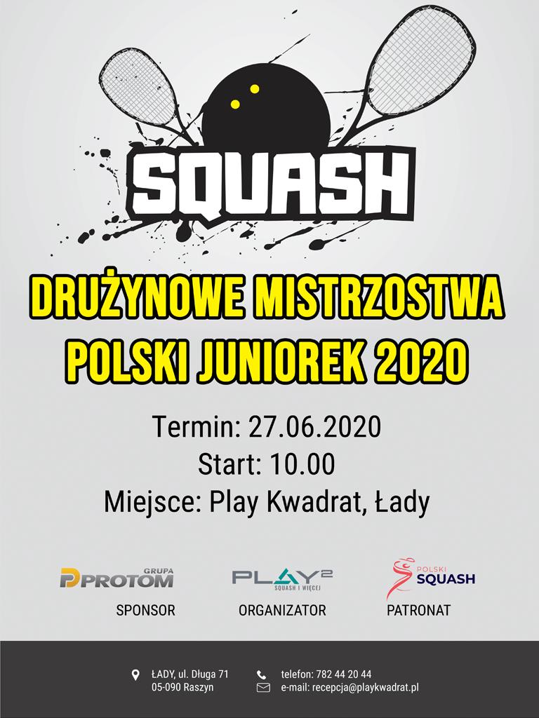 drużynowe mistrzostwa polski juniorek 2020 play kwadrat łady squash